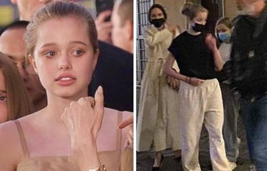 Vừa oanh tạc thảm đỏ bằng hình ảnh cực kỳ nữ tính, con gái từng có ý định chuyển giới của Angelina Jolie lại chiếm spotlight tại Ý